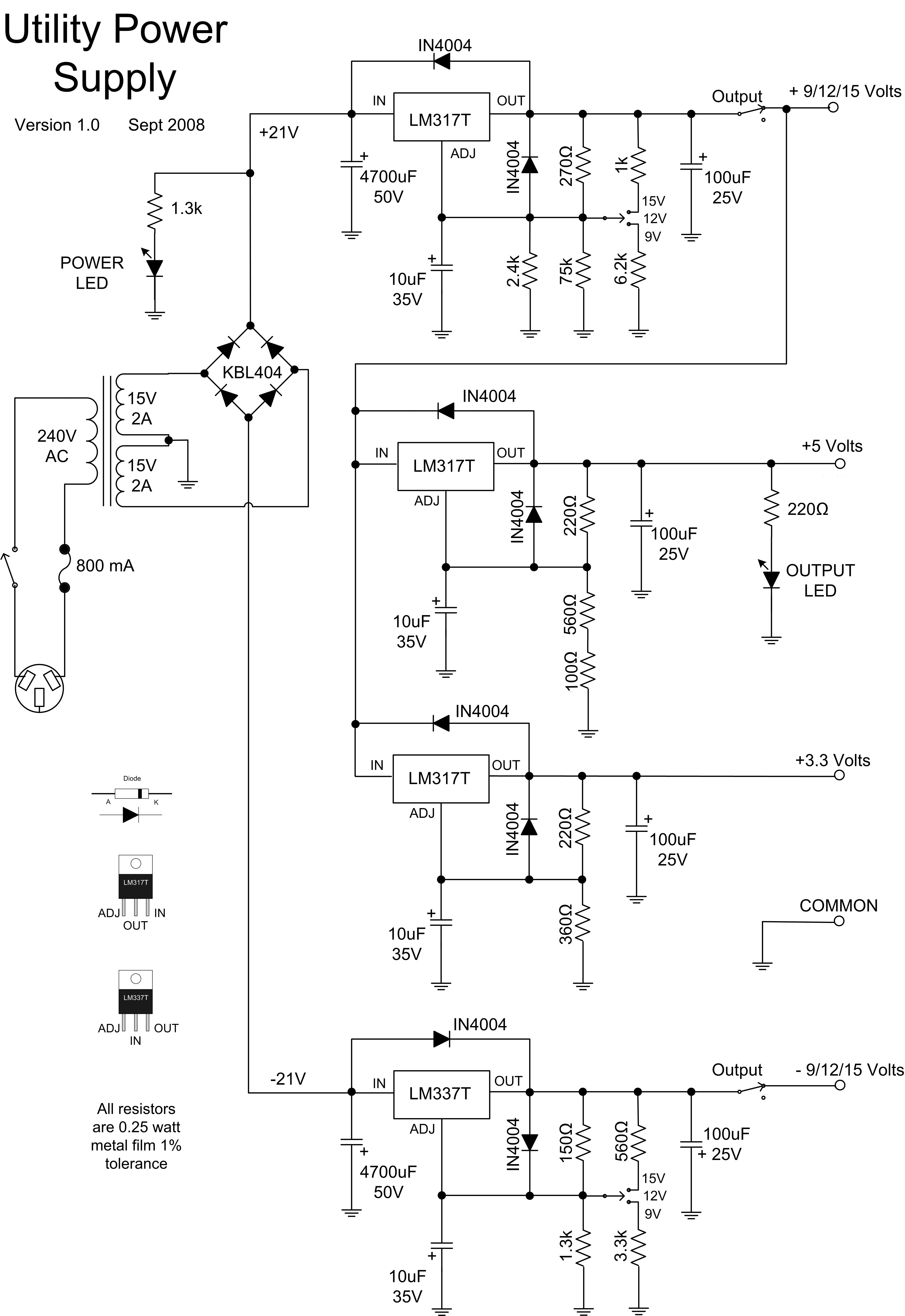geoff\u0027s projects utility power supplyutility power supply v1 0 schematic, download