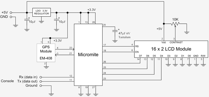 Geoff's Projects - GPS Controlled Clock on gps jammer schematic, rs232 to usb adapter schematic, gps circuit boards, gps active antenna schematic, gps circuit component, gps circuit design,