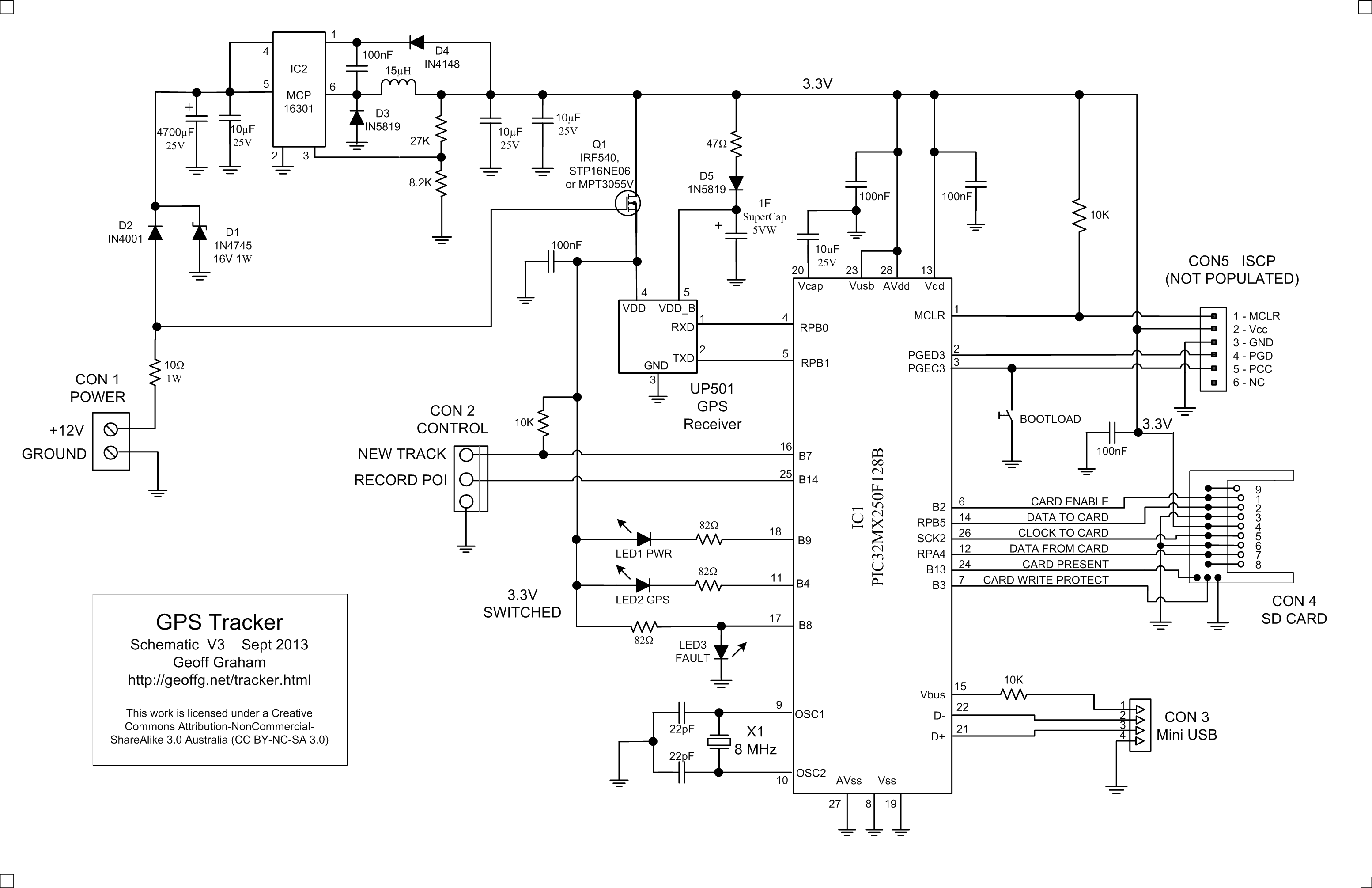Geoffs Projects Gps Tracker High Ignition Wiring Diagram 6 The Is Intended To Be Connected Vehicles Circuit Ie 12v When Engine Running It Can Permanently Fuse